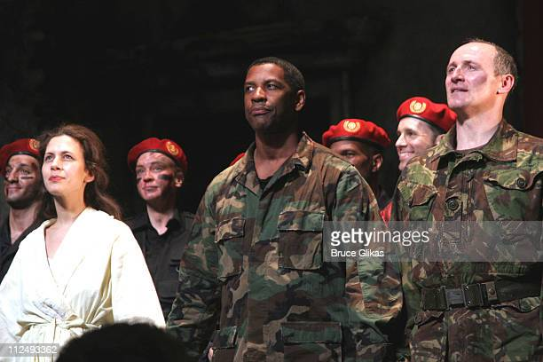 Curtain Call with Jessica Hecht Denzel Washington and Colm Feore
