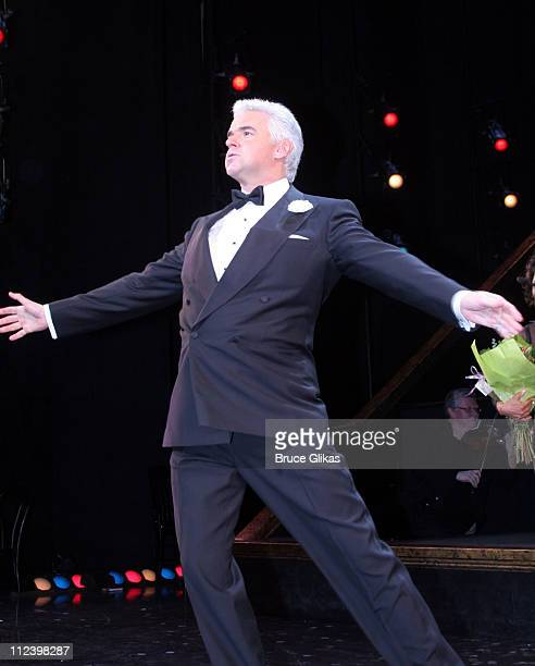 Curtain Call with John O'Hurley during John O'Hurley and Robin Givens Opening Night in 'Chicago' on Broadway at The Ambassador Theater in New York...