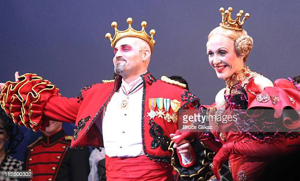 Curtain Call with Marc Kudish and Jan Maxwell during 'Chitty Chitty Bang Bang' Broadway Opening Night Curtain Call at The Hilton Theater in New York...