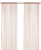 Brown curtain. Isolated on white background. Include clipping path.