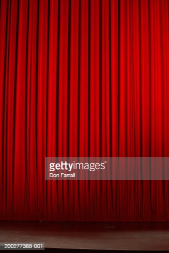 Curtain on stage in theater : Stock Photo
