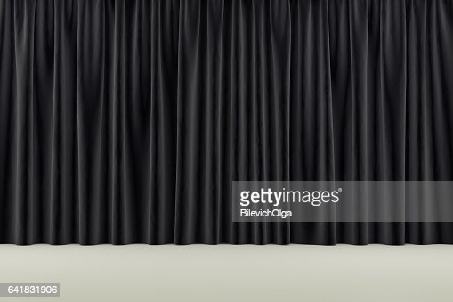 curtain or drapes background. 3d render : Stock Photo