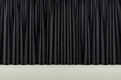 curtain or drapes background scene. 3d rendering