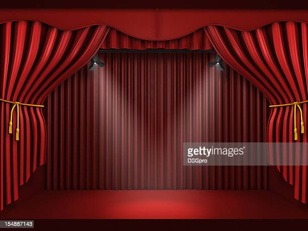Curtain red stage