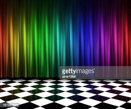 Curtains in multi colors : Stock Photo