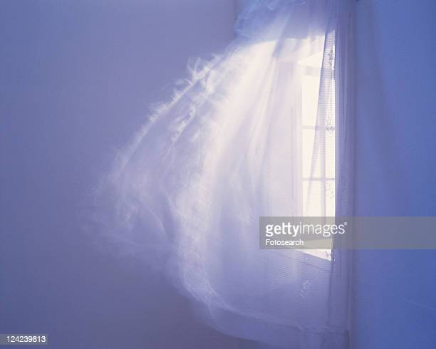 Curtains waving in the wind, Blurred Motion