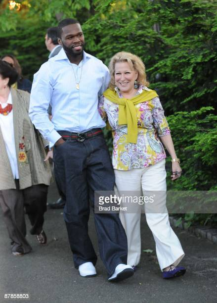 Curtis '50 Cent' Jackson and Bette Midler attends Bette Midler's New York Restoration Project's 8th Annual Spring Picnic at the New Leaf Restaurant...