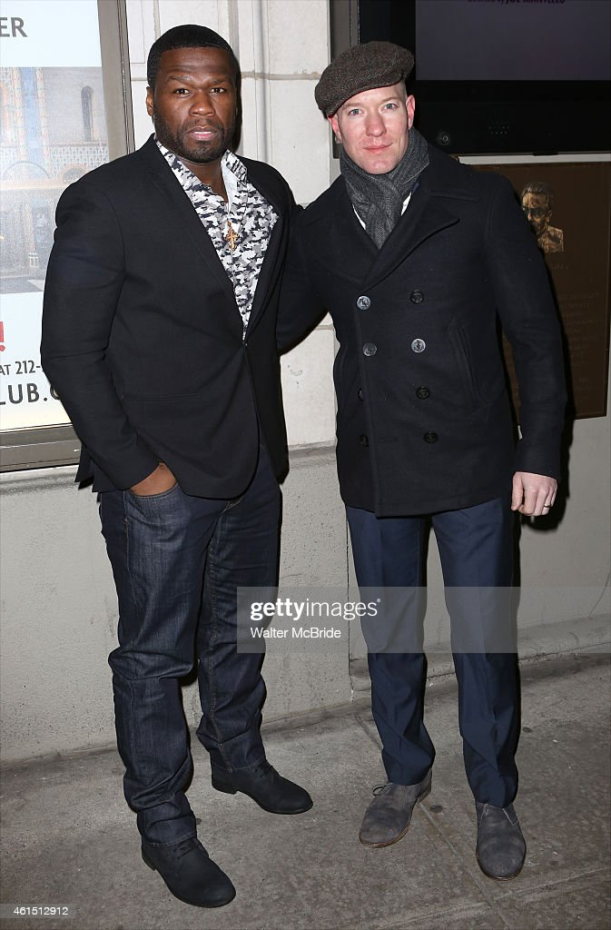Curtis '50 Cent' Jackson and guest attend the Broadway Opening Night Performance of The Manhattan Theatre Club's production of 'Constellations' at...