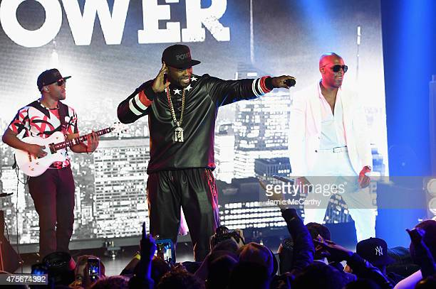 Curtis '50 Cent' Jackson and Joe perform during the 'Power' season two premiere event with a special performance from 50 Cent GUnit and other guests...