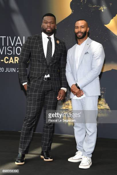 Curtis '50 Cent' Jackson and Omari Hardwick from 'Power' attend a photocall during the 57th Monte Carlo TV Festival Day 5 on June 20 2017 in...