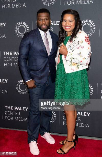 Curtis '50 Cent' Jackson and 'Power' creator Courtney A Kemp attend An Evening With The Cast And Creative Team Of 'Power' at The Paley Center for...