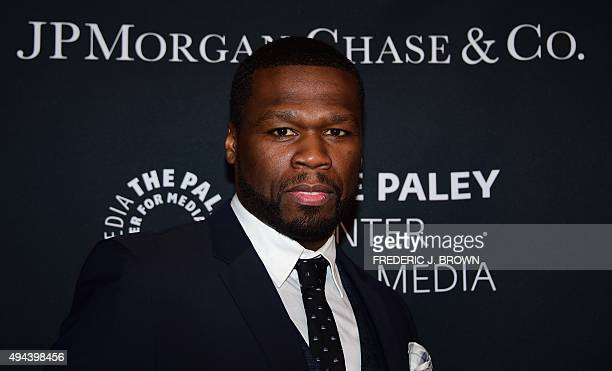 Curtis '50 Cent' Jackson arrives at The Paley Center For Media's Hollywood Tribute to African American Achievements in Television on October 26 2015...