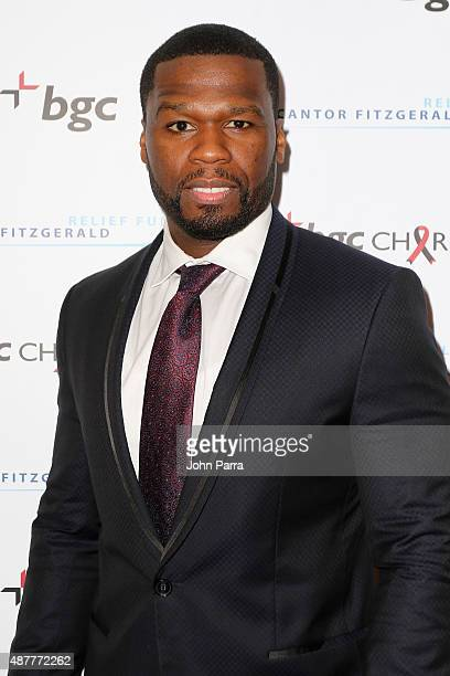 Curtis '50 Cent' Jackson attends Annual Charity Day hosted by Cantor Fitzgerald and BGC at BGC Partners INC on September 11 2015 in New York City