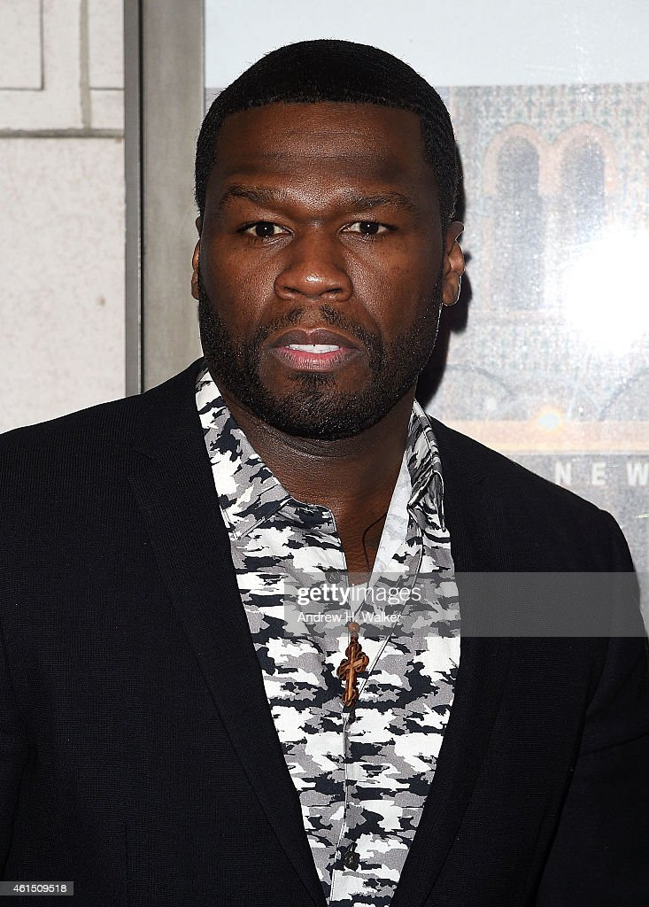 Curtis '50 Cent' Jackson attends 'Constellations' Broadway opening night at Samuel J Friedman Theatre on January 13 2015 in New York City