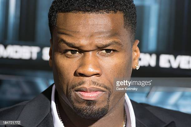 Curtis '50 Cent' Jackson attends 'Escape Plan' New York Premiere at Regal EWalk on October 15 2013 in New York City