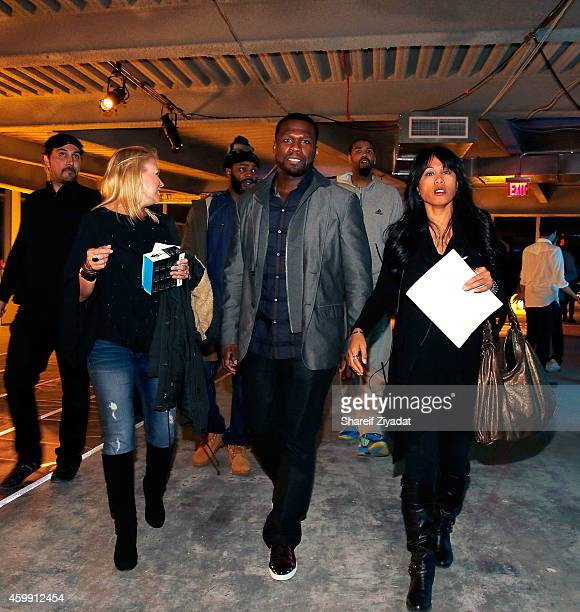Curtis '50 Cent' Jackson attends Intel x SMS Audio product launch at Four World Trade Center on December 3 2014 in New York City