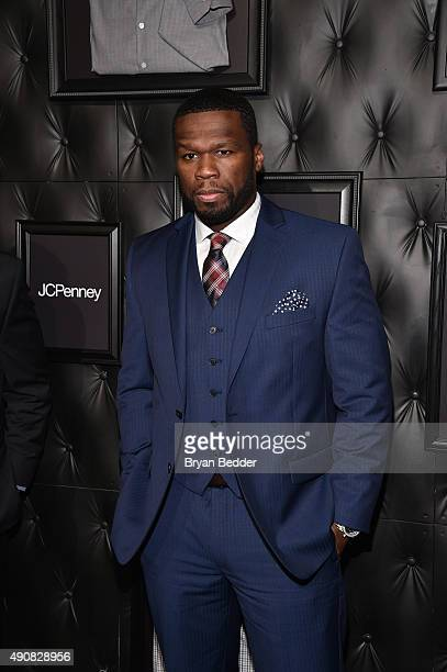 Curtis '50 Cent' Jackson attends JCPenney and Michael Strahan's launch of Collection by Michael Strahan on September 30 2015 in New York City