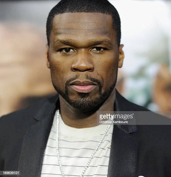 Curtis '50 Cent' Jackson attends the 'After Earth' premiere at the Ziegfeld Theater on May 29 2013 in New York City