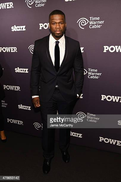 Curtis '50 Cent' Jackson attends the 'Power' season two premiere event with a special performance from 50 Cent GUnit and other guests on June 2 2015...