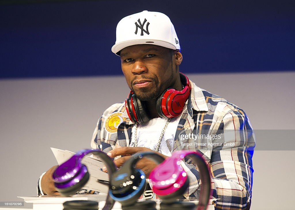 Curtis '50 Cent' Jackson holds an autograph session at Messe Berlin during the 'Internationale Funkausstellung' on August 31, 2012 in Berlin, Germany.