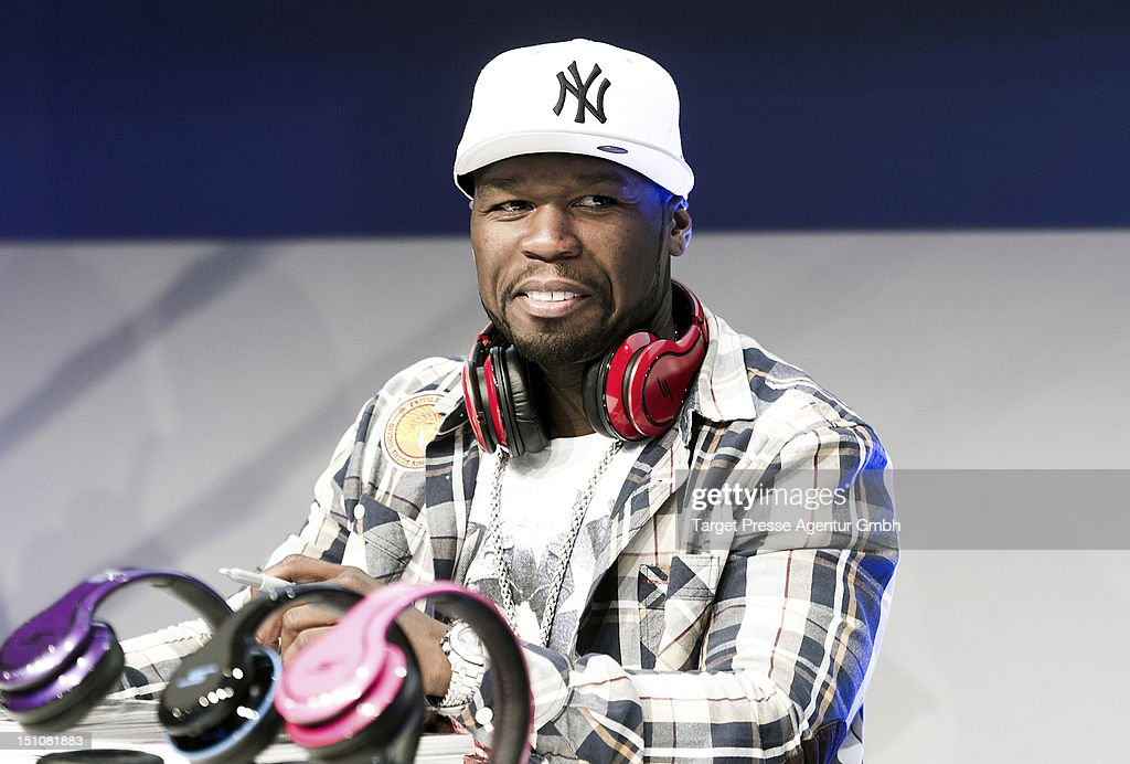 Curtis '<a gi-track='captionPersonalityLinkClicked' href=/galleries/search?phrase=50+Cent+-+Rapper&family=editorial&specificpeople=215363 ng-click='$event.stopPropagation()'>50 Cent</a>' Jackson holds an autograph session at Messe Berlin during the 'Internationale Funkausstellung' on August 31, 2012 in Berlin, Germany.