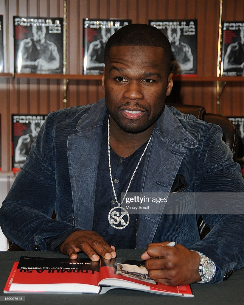 Curtis '50 Cent' Jackson signs copies of his book 'Formula 50' on January 7, 2013 in Las Vegas, Nevada.