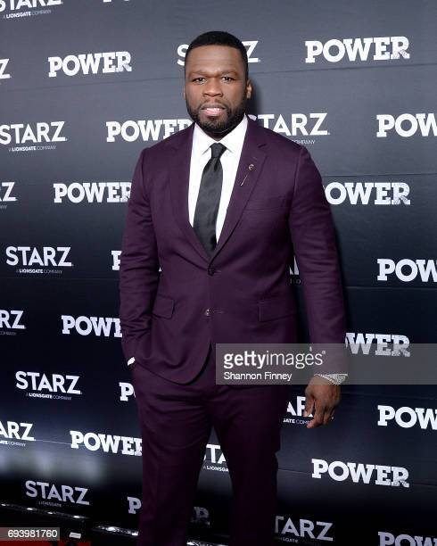 Curtis '50 Cent' Jackson star and executive producer of the Starz series 'Power' attends the Season 4 premiere at The Newseum on June 8 2017 in...