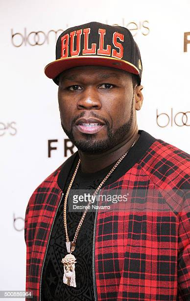 Curtis '50 Cent' Jackson visits Bloomingdale's Soho to promote FRIGO at Bloomingdale's Soho on December 10 2015 in New York City