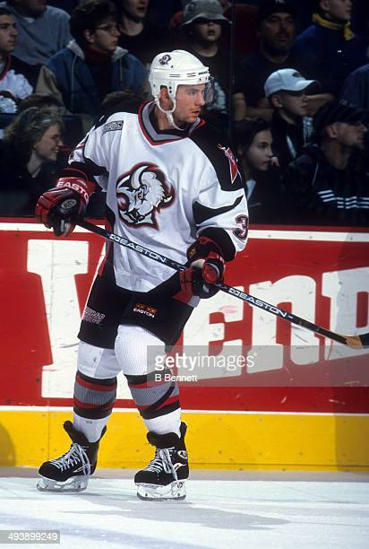 Curtis Brown of the Buffalo Sabres skates on the ice during an NHL game in January 2000