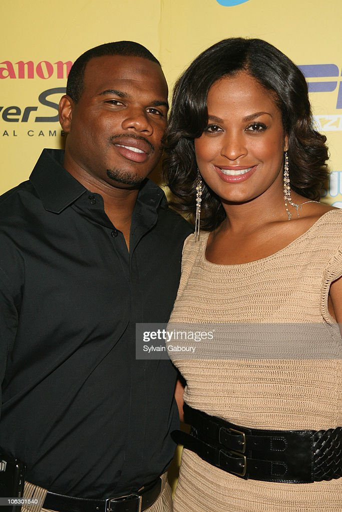 Curtis Conway and Laila Ali during ESPN Magazine Summer Fun Party Arrivals at Pier 59 at Chelsea Piers in New York City New York United States