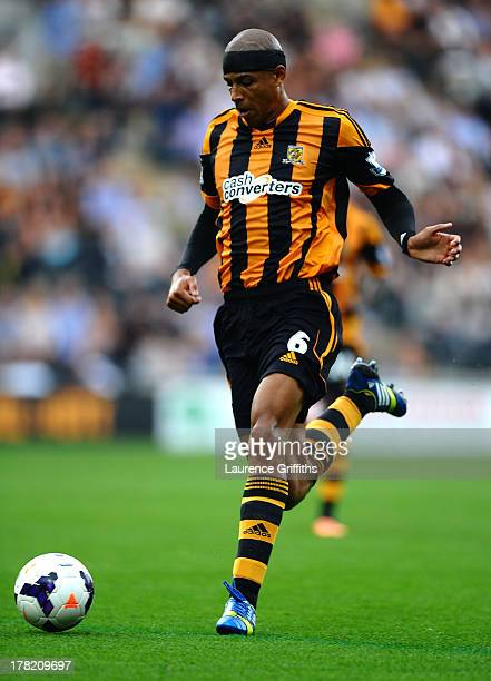 Curtis Davies of Hull City in action during the Barclays Premier League match between Hull City and Norwich City at KC Stadium on August 24 2013 in...