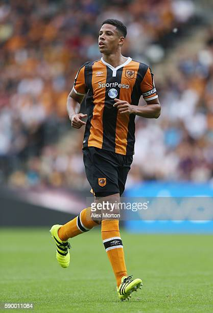 Curtis Davies of Hull during the Premier League match between Hull City and Leicester City at KC Stadium on August 13 2016 in Hull England