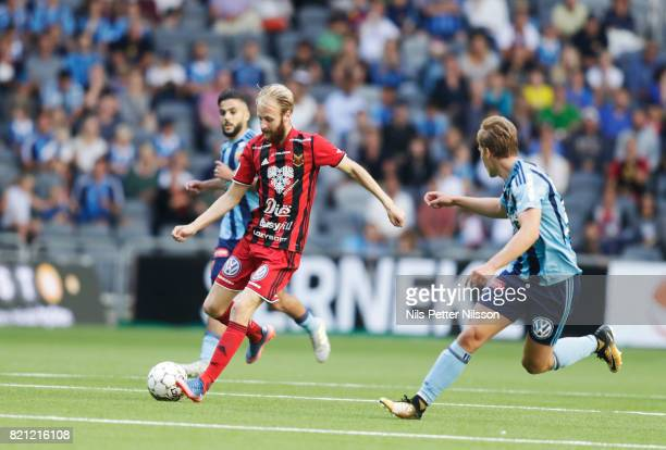 Curtis Edwards of Ostersunds FK during the Allsvenskan match between Djurgardens IF and Ostersunds FK at Tele2 Arena on July 23 2017 in Stockholm...