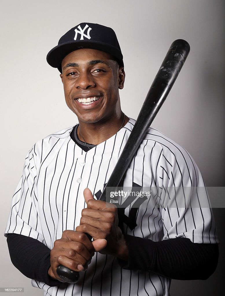 Curtis Granderson #14 of the New York Yankees poses for a portrait on February 20, 2013 at George Steinbrenner Stadium in Tampa, Florida.