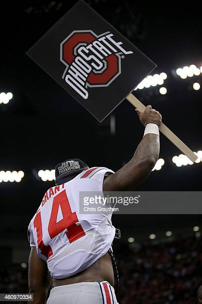 Curtis Grant of the Ohio State Buckeyes celebrates after defeating the Alabama Crimson Tide in the All State Sugar Bowl at the MercedesBenz Superdome...