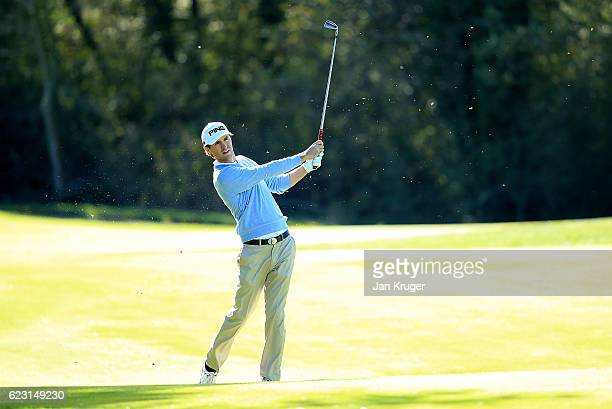 Curtis Griffiths of England during the third round of the European Tour qualifying school final stage at PGA Catalunya Resort on November 14 2016 in...