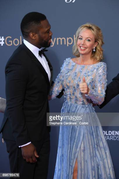 Curtis Jackson aka '50 Cent' and Camilla de Bourbon des Deux Siciles attend the Closing Ceremony of the 57th Monte Carlo TV Festival on June 20 2017...