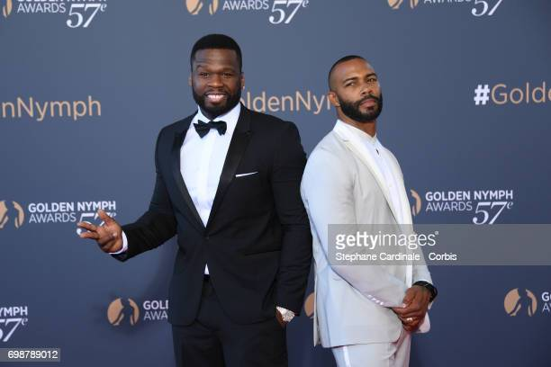Curtis Jackson aka '50 Cent' and Omari Hardwick attend the Closing Ceremony of the 57th Monte Carlo TV Festival on June 20 2017 in MonteCarlo Monaco