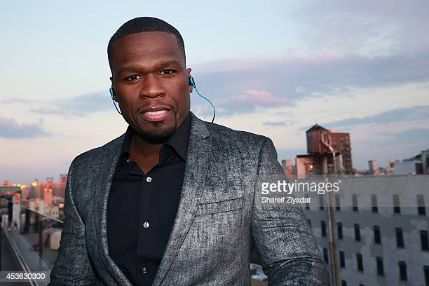 Curtis Jackson attends the 2014 IntelxSMSAudio BioSport Announcement at The New Museum on August 14 2014 in New York City