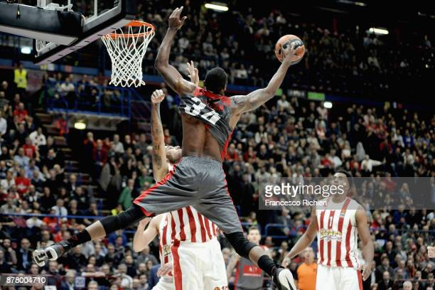 Curtis Jerrells #55 of AX Armani Exchange Olimpia Milan in action during the 2017/2018 Turkish Airlines EuroLeague Regular Season Round 9 game...