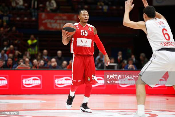 Curtis Jerrells drives to the basket during a game of Turkish Airlines EuroLeague basketball between AX Armani Exchange Milan vs Brose Bamberg at...