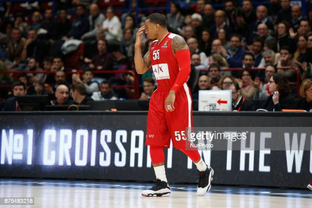 Curtis Jerrells during a game of Turkish Airlines EuroLeague basketball between AX Armani Exchange Milan vs Brose Bamberg at Mediolanum Forum on...