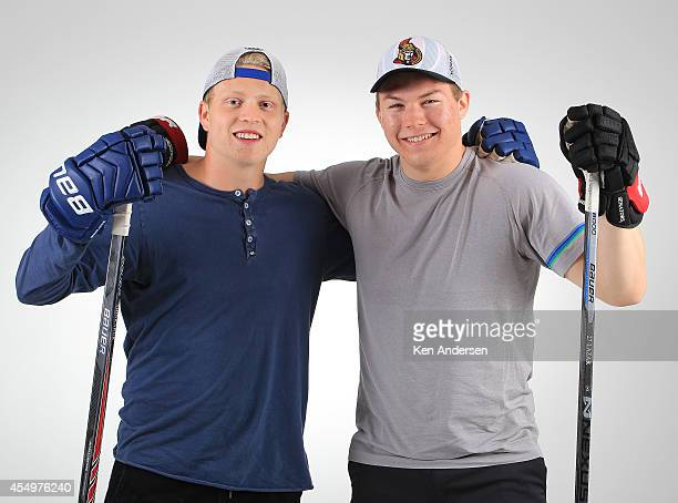 Curtis Lazar of the Ottawa Senators poses for an NHLPA The Players Collection portrait at the Mattamy Sports Center on August 23 2014 in Toronto...