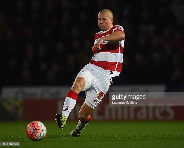 Curtis Main of Doncaster Rovers in action during the The Emirates FA Cup Third Round match between Doncaster Rovers and Stoke City at Keepmoat...