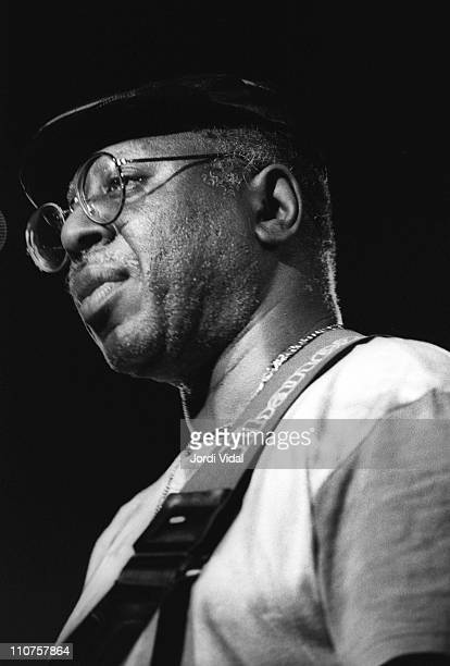 Curtis Mayfield performs on stage at Zeleste on April 6 1990 in Barcelona Spain