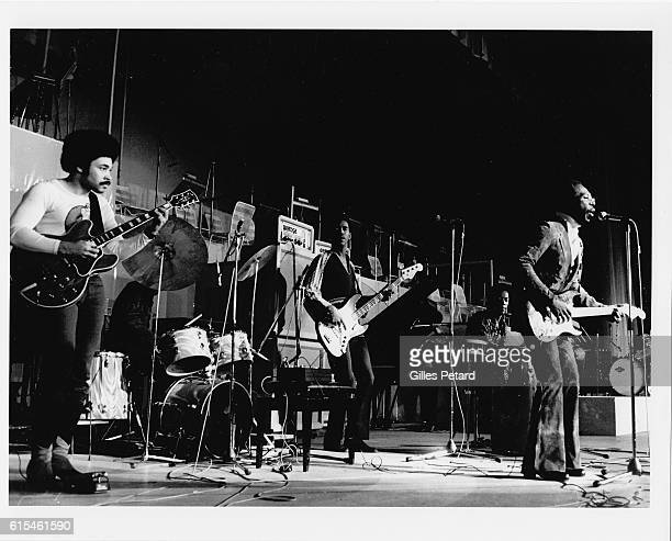 Curtis Mayfield performs on stage United States 1972