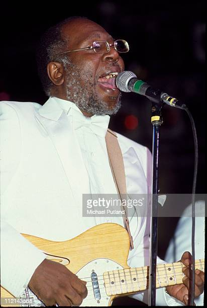 Curtis Mayfield performs on stage with The Impressions Beacon Theater New York 1983