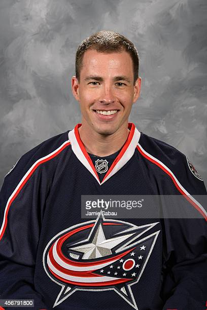 Curtis McElhinney of the Columbus Blue Jackets poses for his official headshot for the 20142015 season on September 18 2014 at the Nationwide Arena...