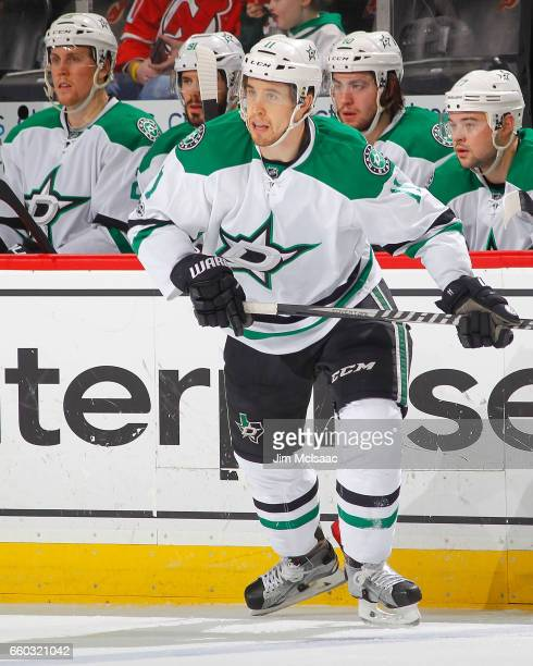 Curtis McKenzie of the Dallas Stars in action against the New Jersey Devils on March 26 2017 at Prudential Center in Newark New Jersey The Stars...