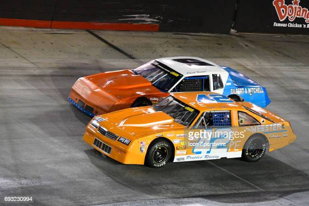 Curtis Peeples Chevrolet Monte Carlo races Chuck Barnes Sr Chevrolet Monte Carlo in the Short Track US Nationals EDCO Welding 50 CRA Street Stocks...
